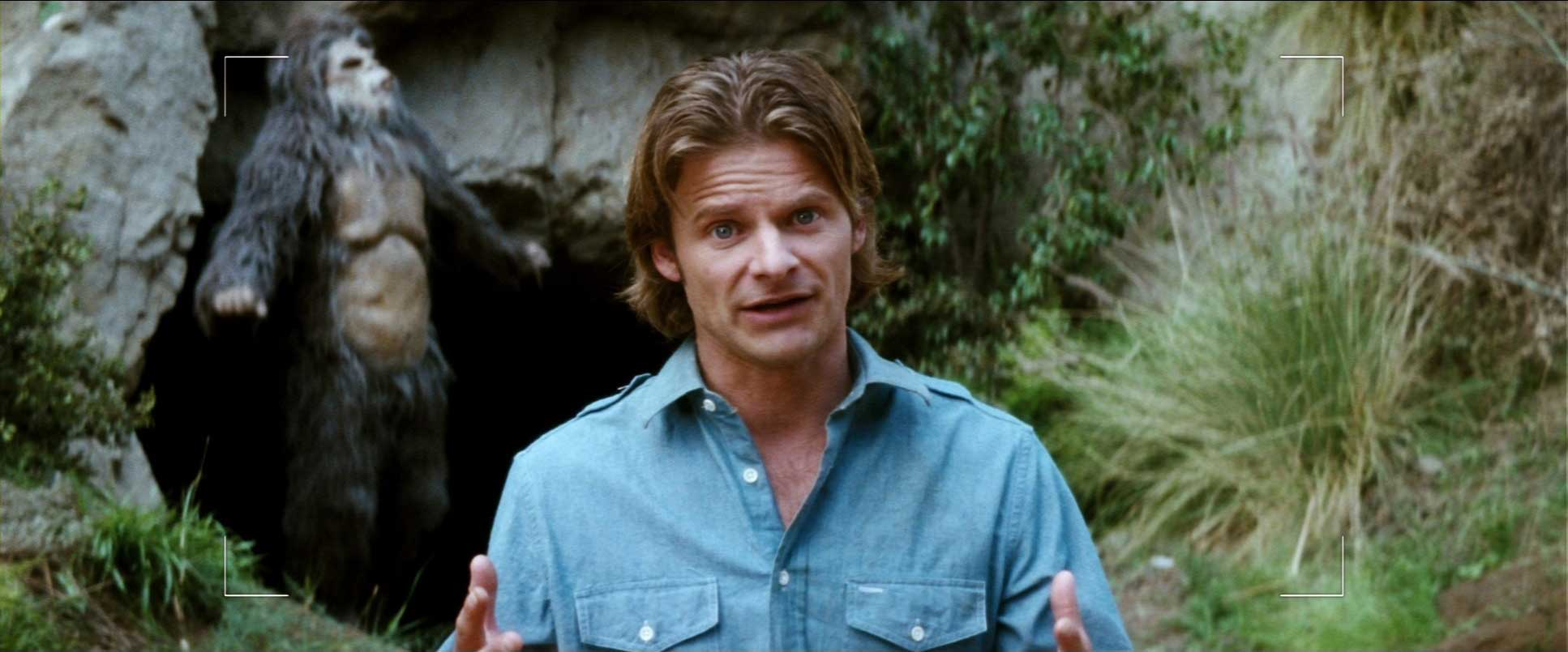 Steve Zahn and Bigfoot from the film Strange Wilderness